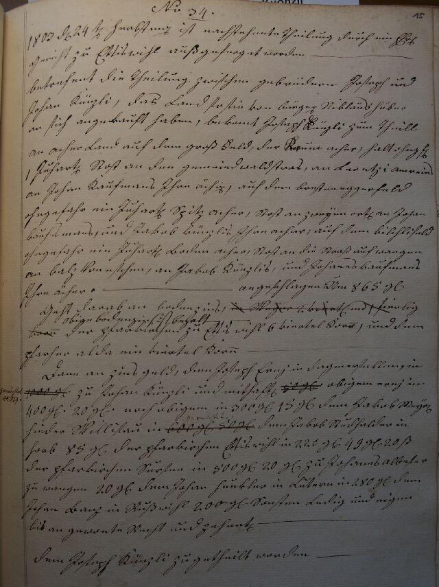Künzli Teilung 1803