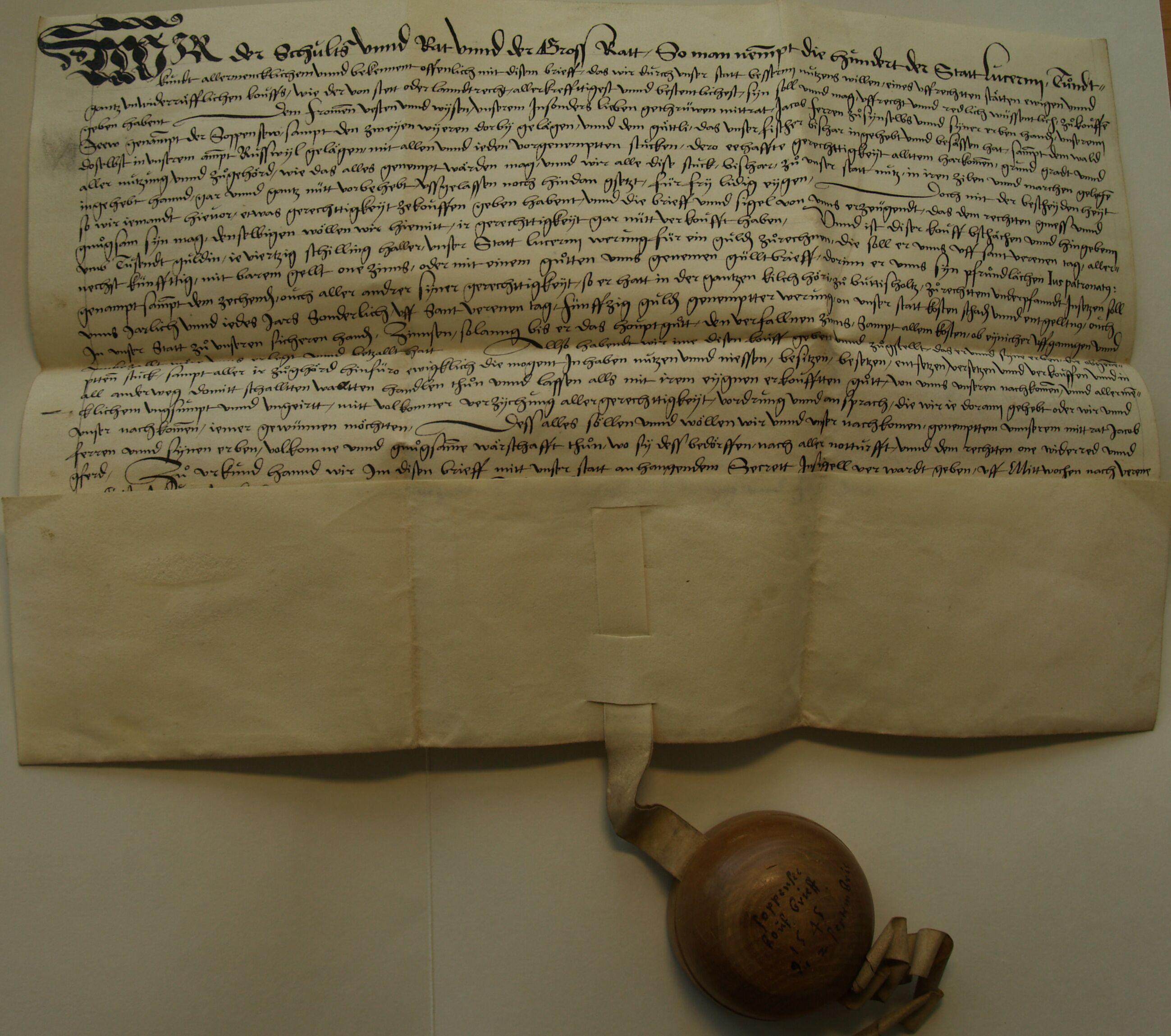 Soppensee und Soppenseewald 1545