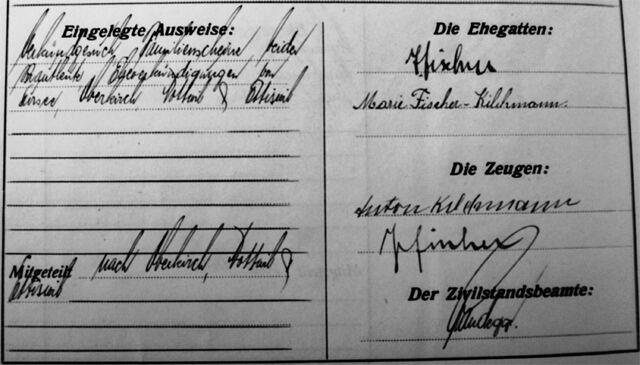 Die Ehegatten: J. Fischer und Marie Fischer-Kilchmann