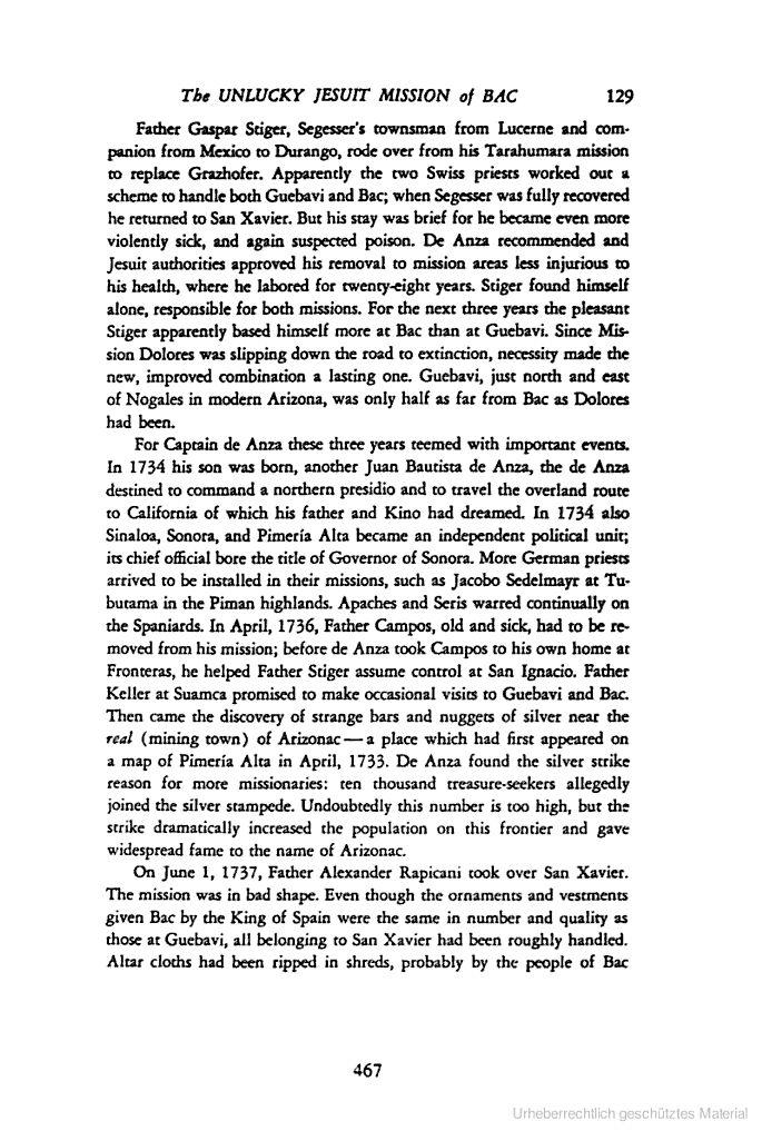 The unlucky Jesuit Mission of Bac