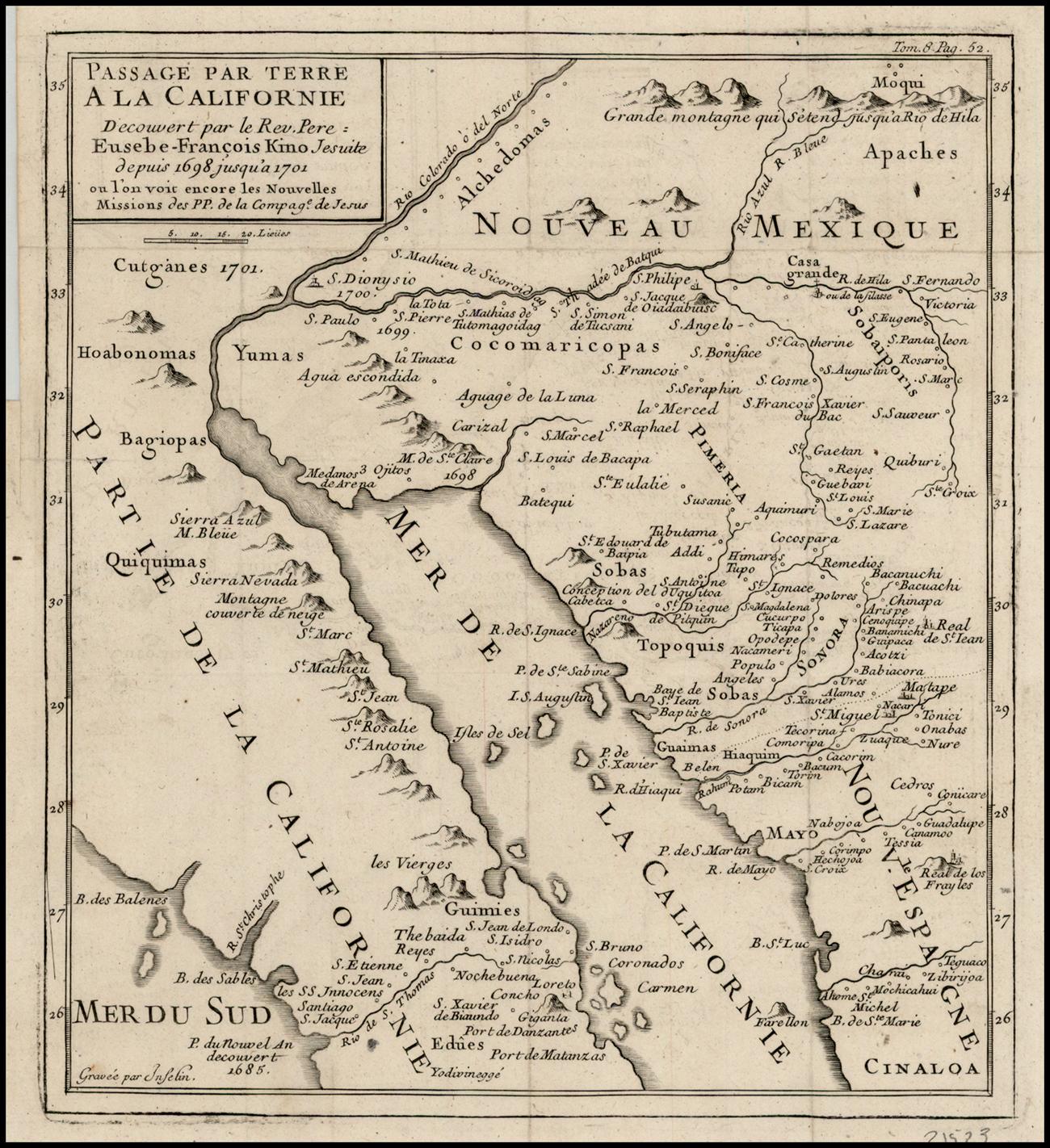 Karte von Eusebius Franciscus Kino