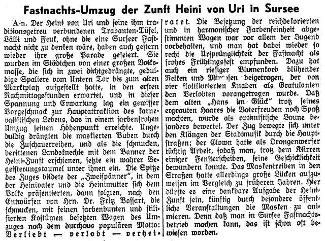 Zeitungsartikel 1939