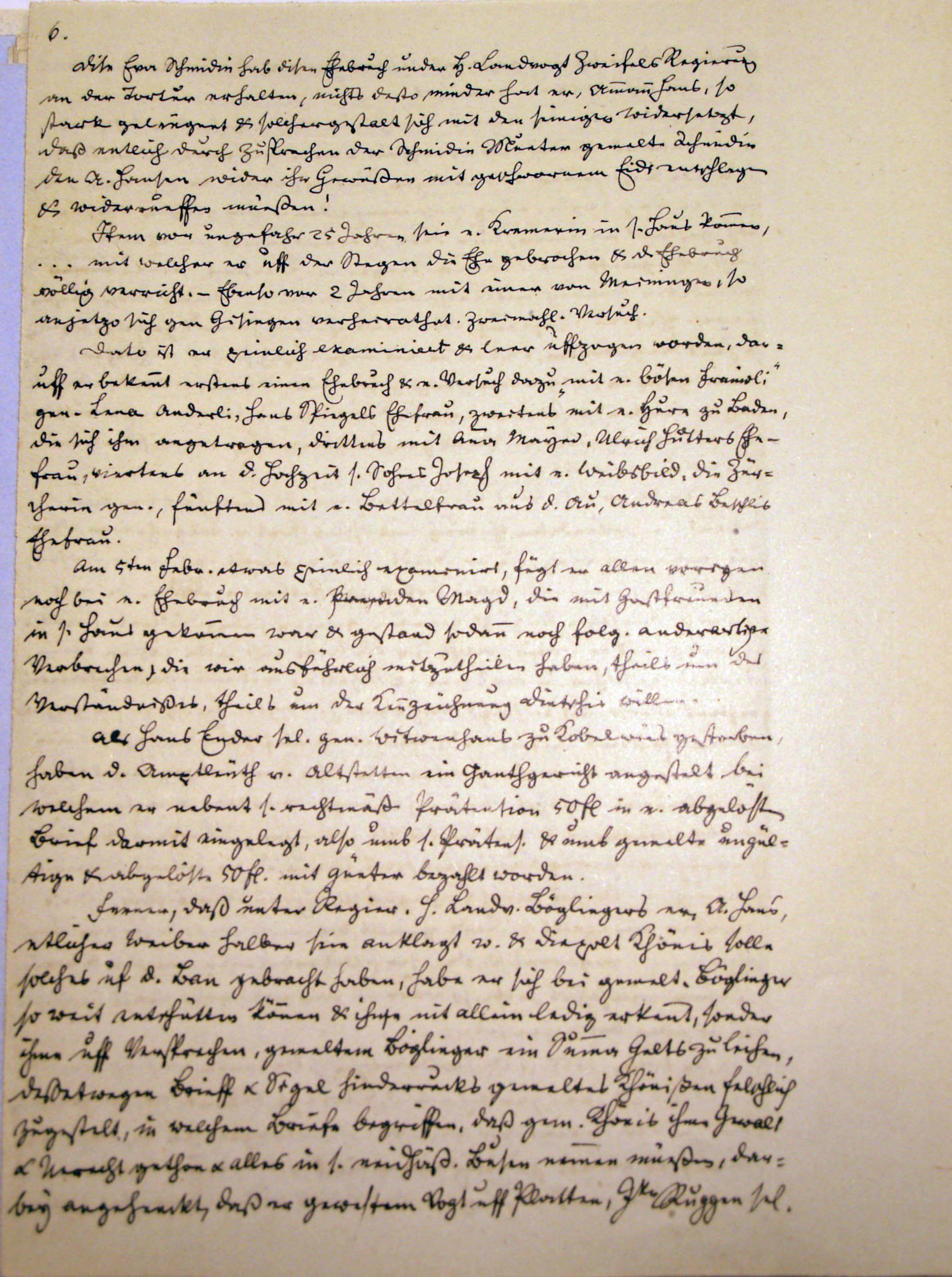 Malefizgericht Amman Hans Dietschi (1655) p. 6