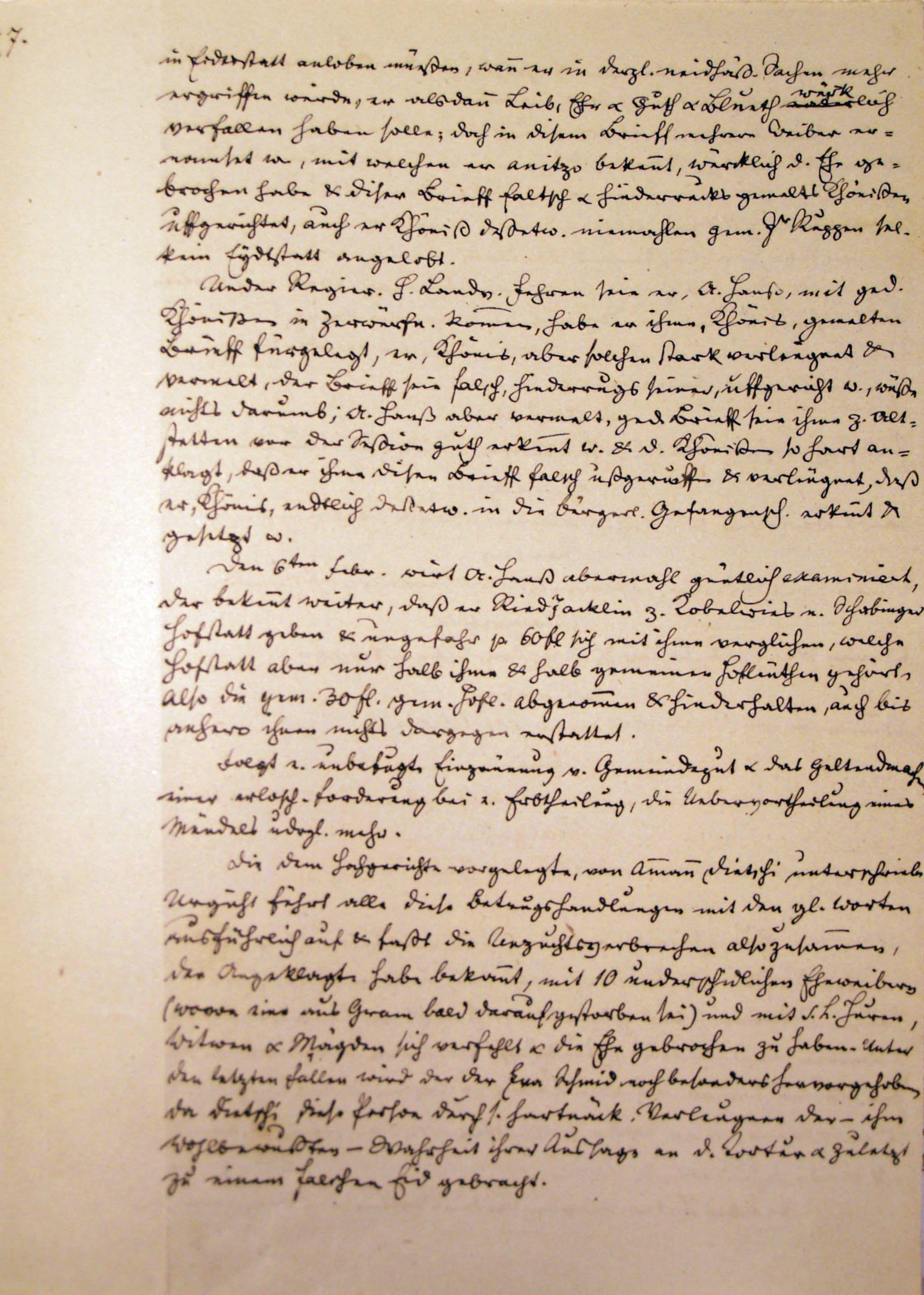 Malefizgericht Amman Hans Dietschi (1655) p. 7
