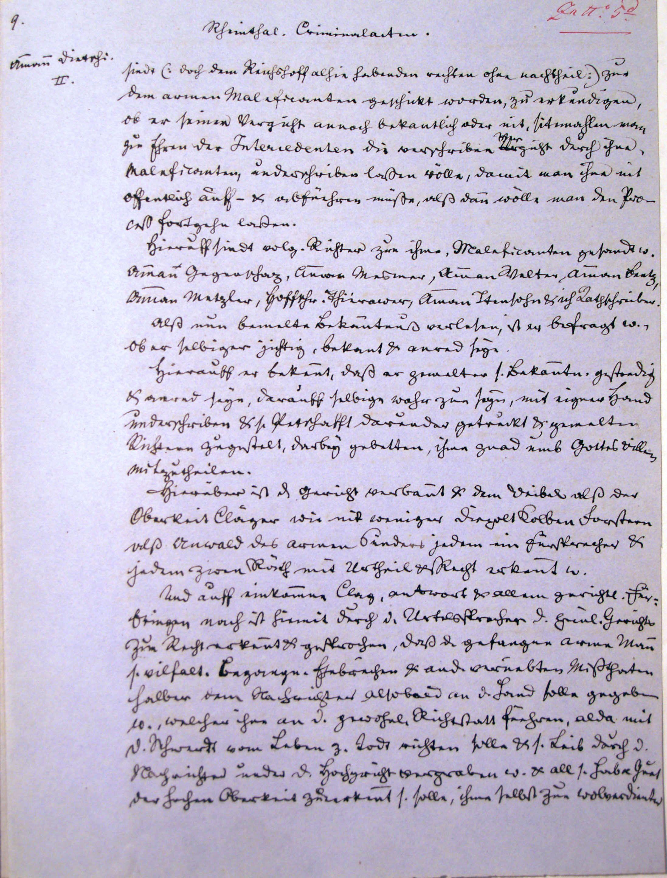 Malefizgericht Amman Hans Dietschi (1655) p. 9