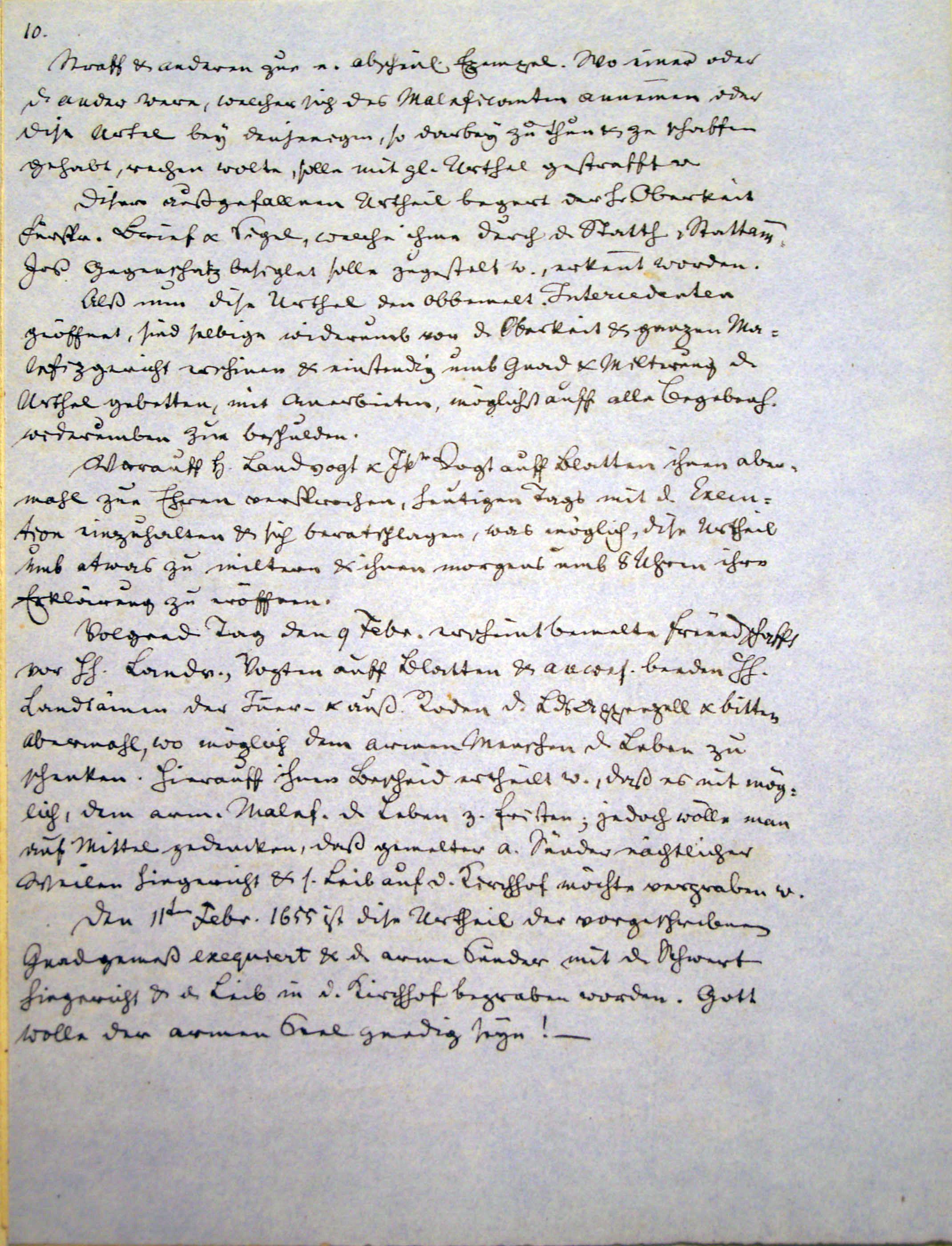 Malefizgericht Amman Hans Dietschi (1655) p. 10