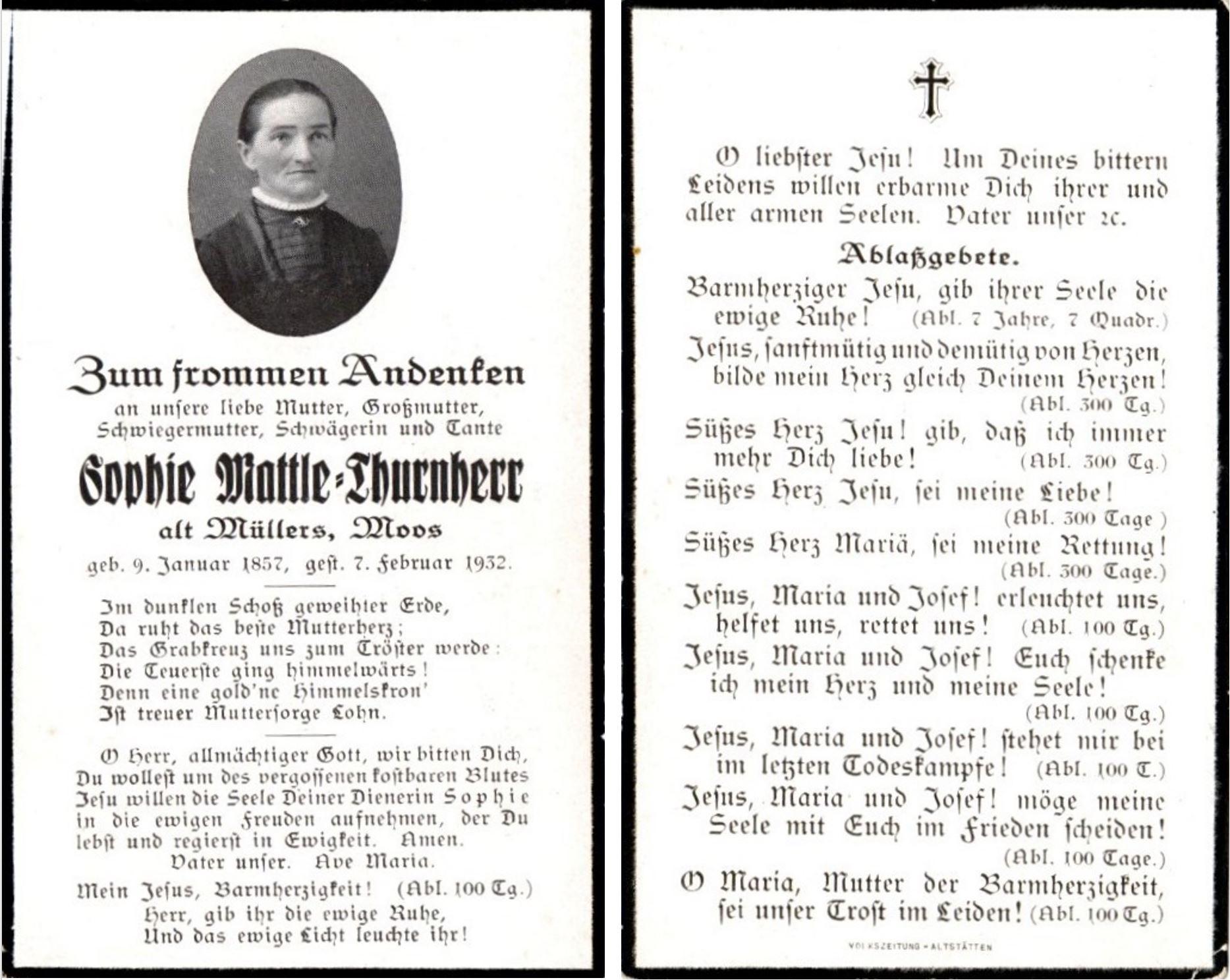 Sophie Mattle-Thurnherr (1857-1932)