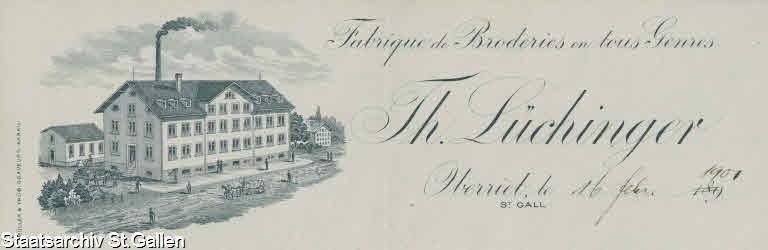 Fabrique de broderies Lüchinger
