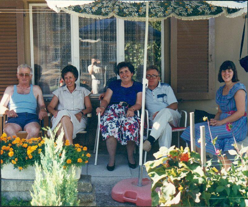 Samuel Tinembart, Marie-Madeleine Ribaux-Rime, Mariette Stieger-Ribaux, Niklaus Stieger, Daniela-Stieger-Fischer