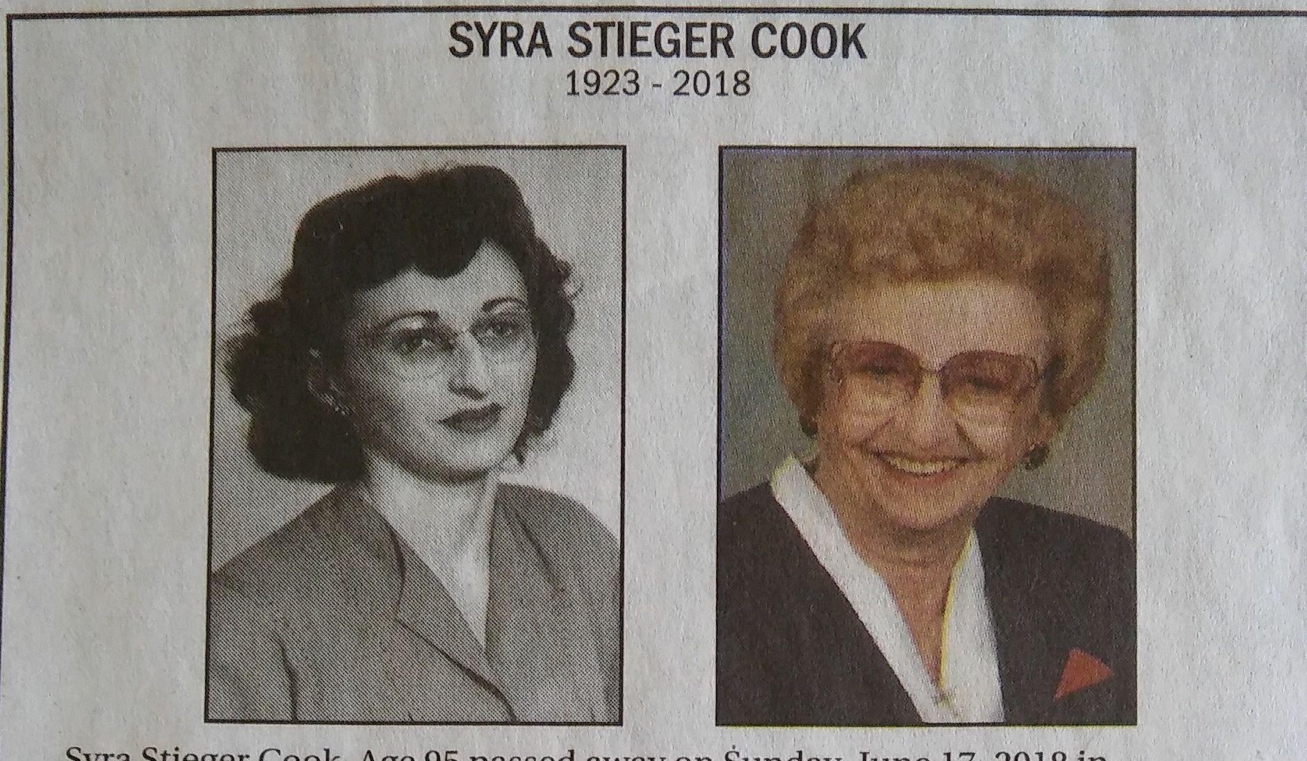 Syra Cook-Stieger (1923-2018)