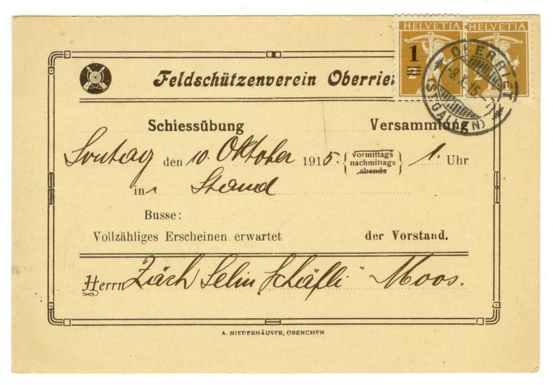 Feldschützenverein Oberriet (1915)