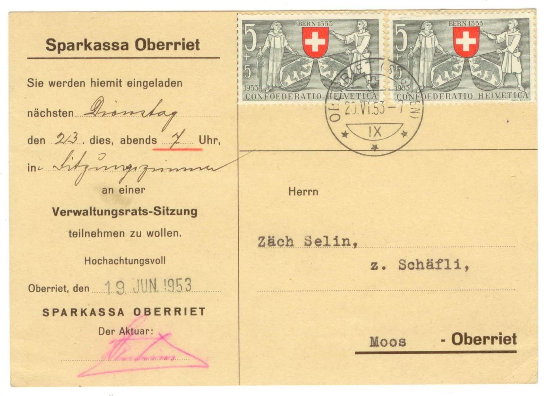Verwaltungsrat Selin Säch (1953)