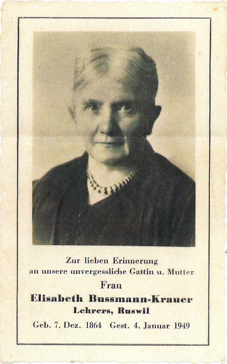 Elisabeth Bussmann-Krauer 1864-1949