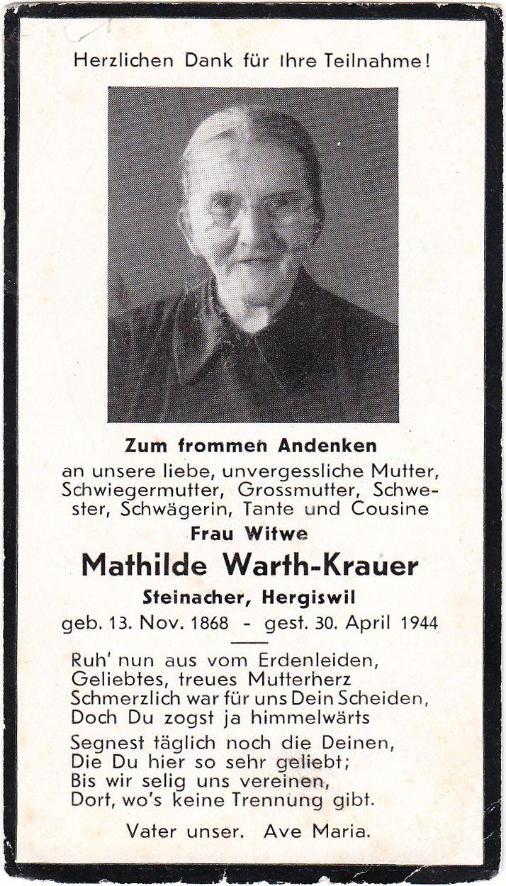 Mathilde Warth-Krauer 1868-1944