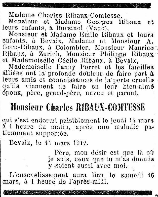 Charles Ribaux-Comtesse († 1912)