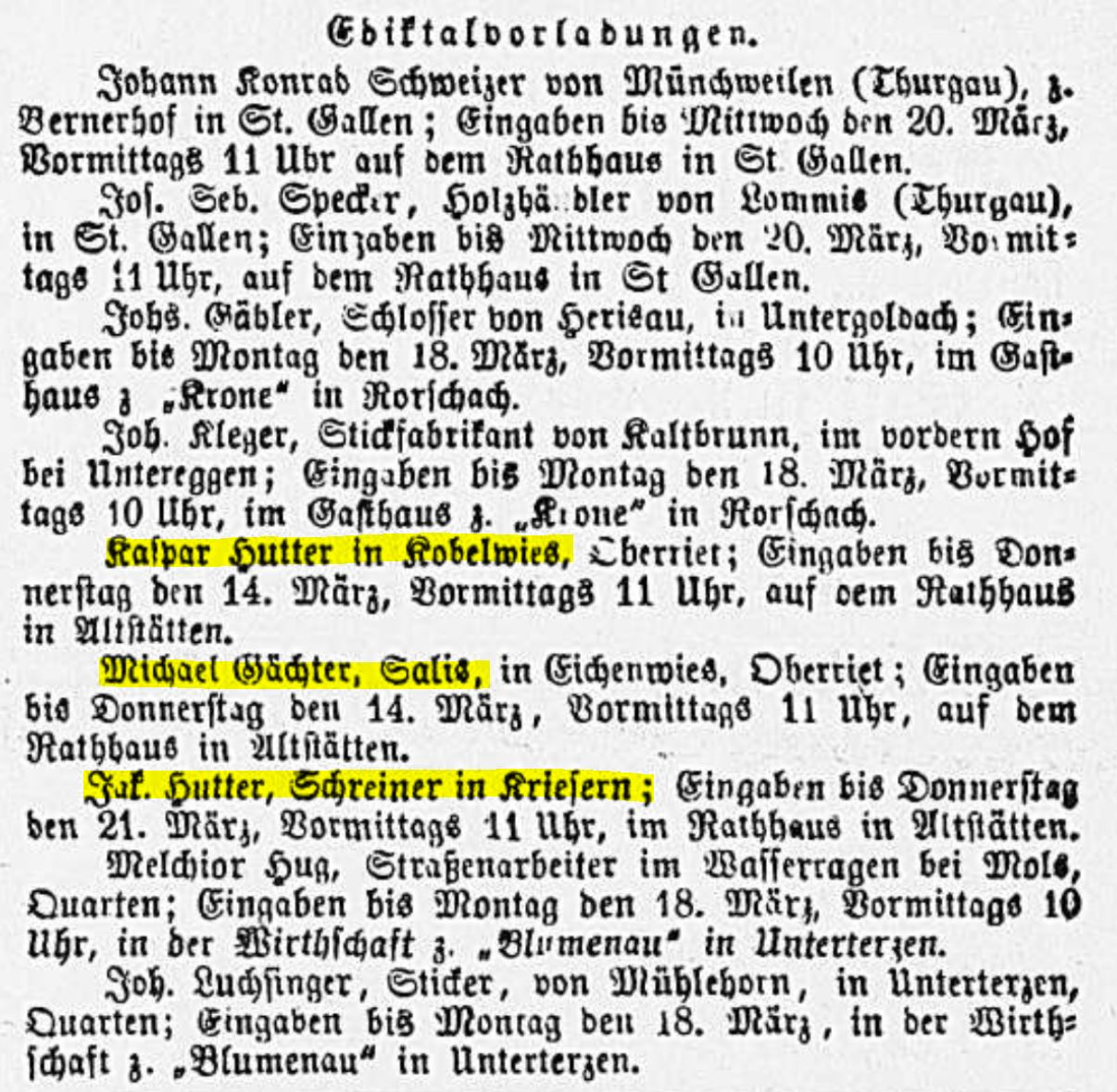 Kaspar Hutter (1841-1924)