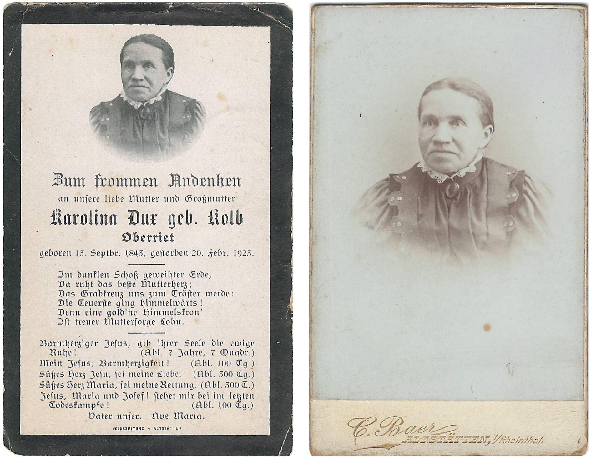 Karolina Dux-Kolb (1843-1923)