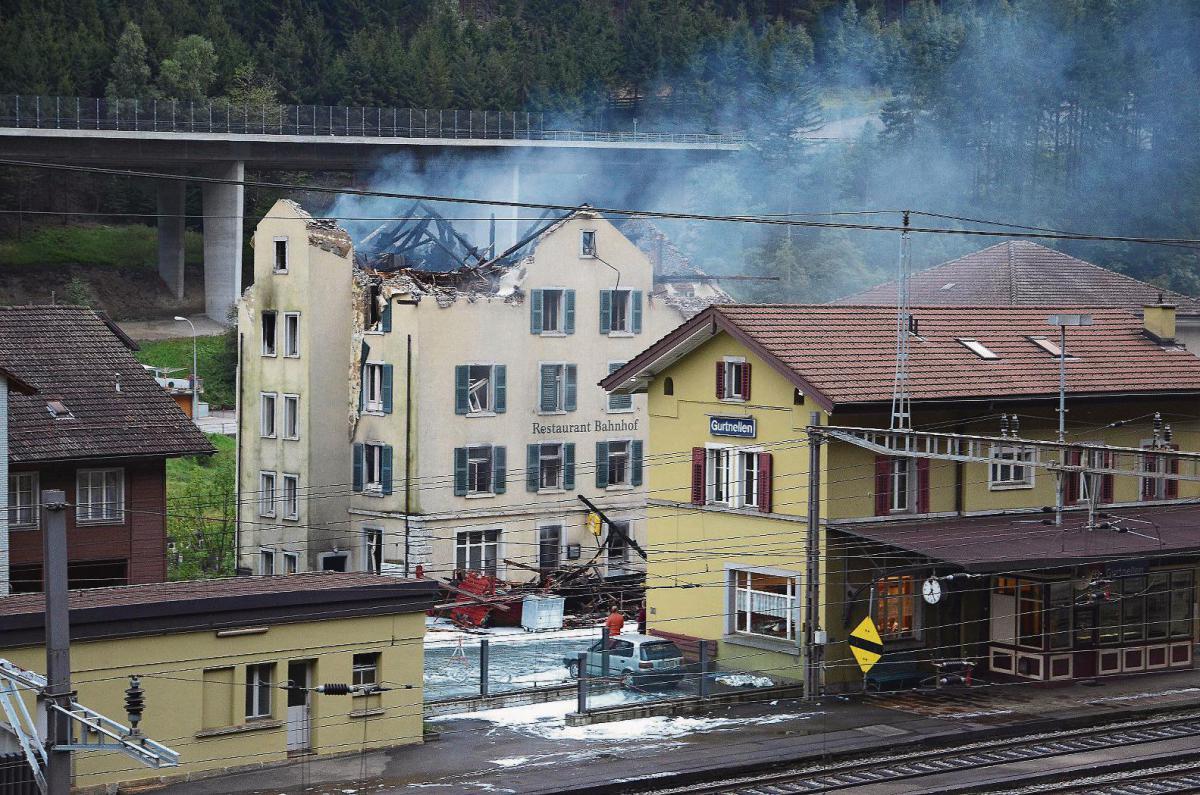 Brand im Restaurant Bahnhof in Gurtnellen