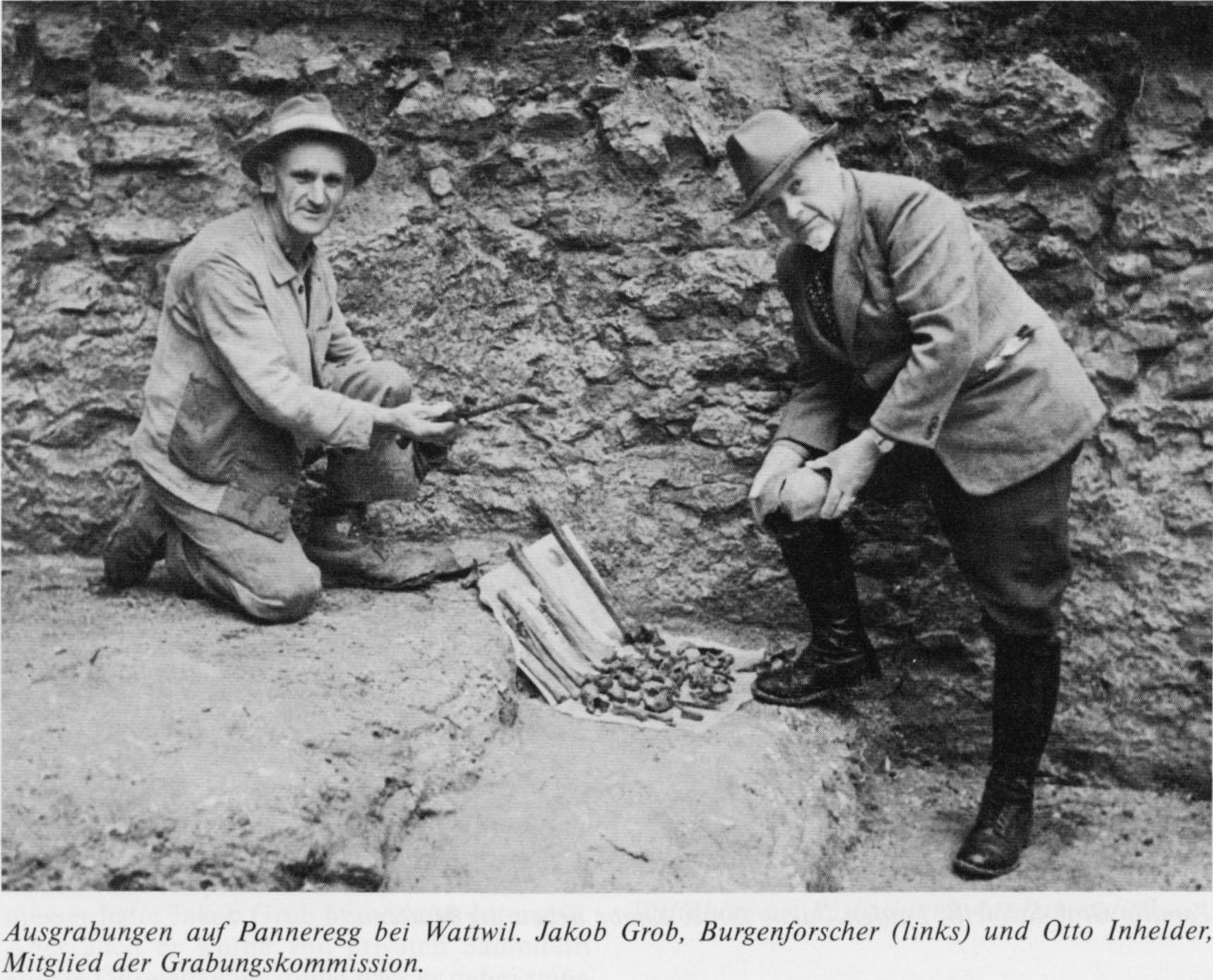 Jakob Grob (Burgenforscher) und Otto Inhelder