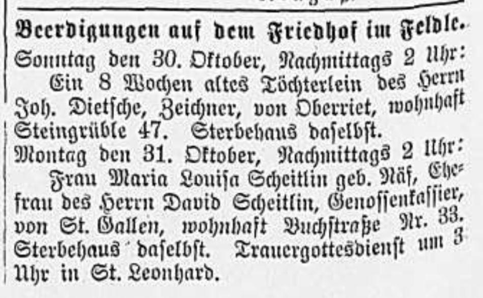 Anna Hedwig Dietschi (1887-1887)