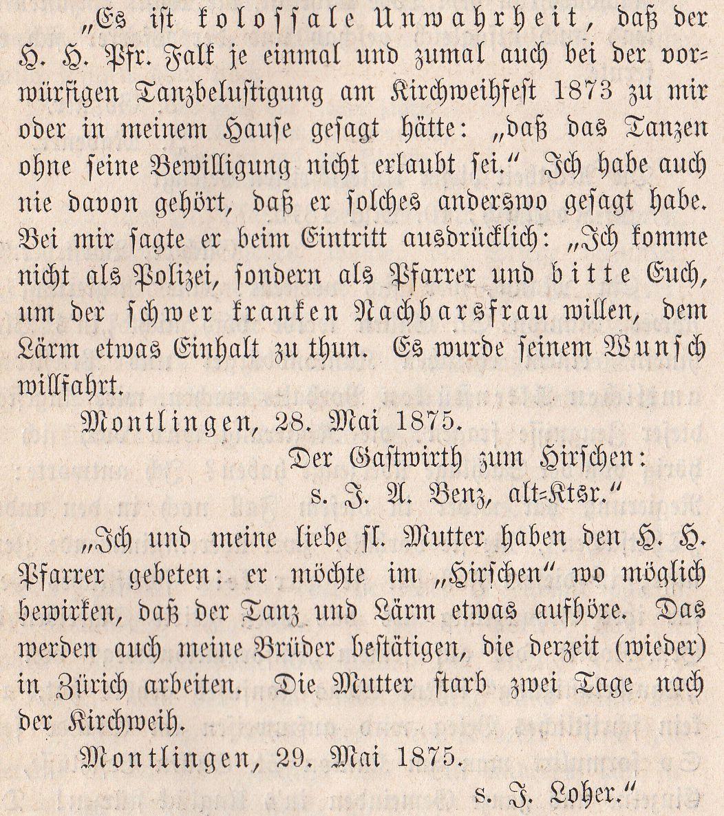 J. August Benz, Kronenwirt, 1873