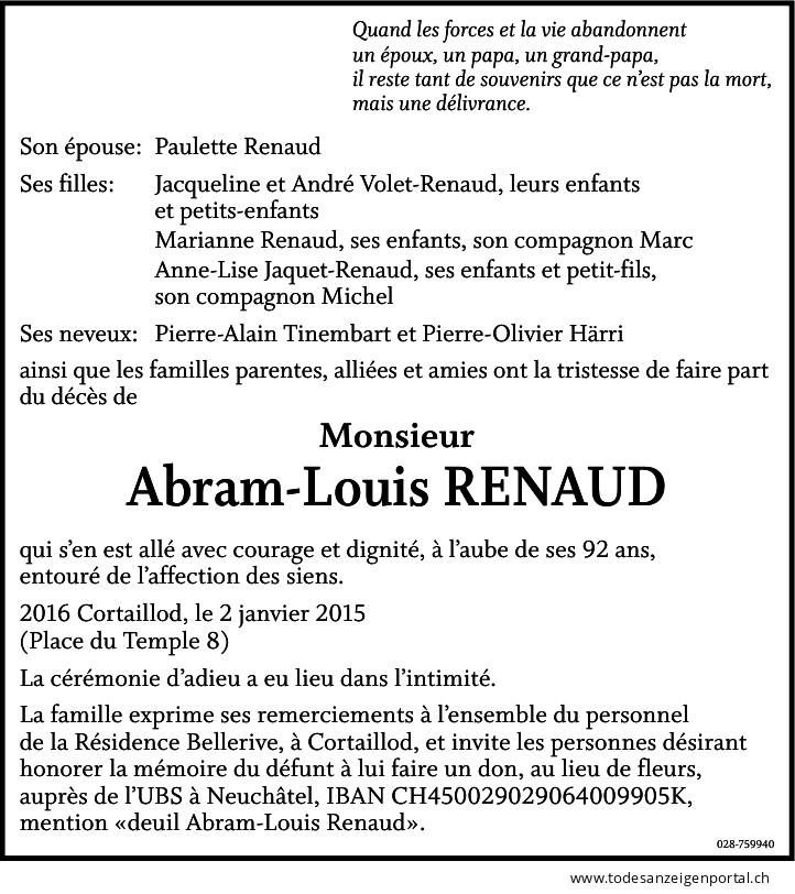 Abram-Louis Renaud