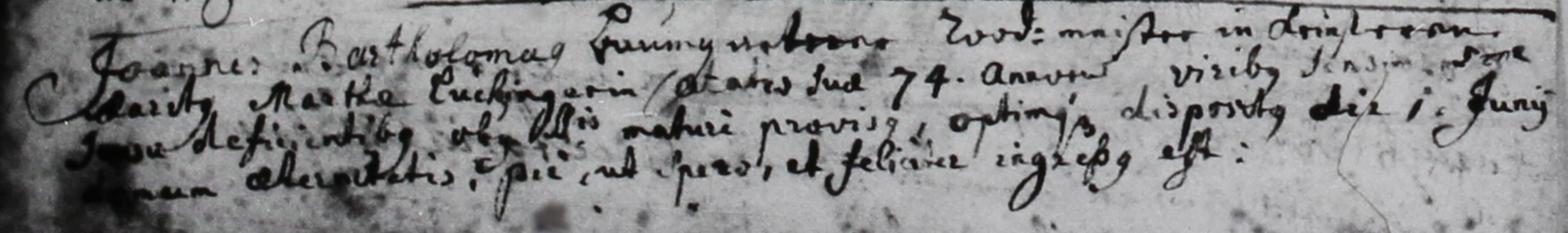 Johannes Bartholomäus Baumgartner († 1772)