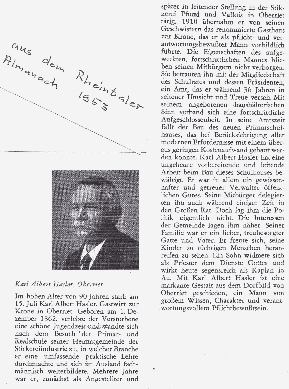 Karl Albert Hasler (1862-1952)