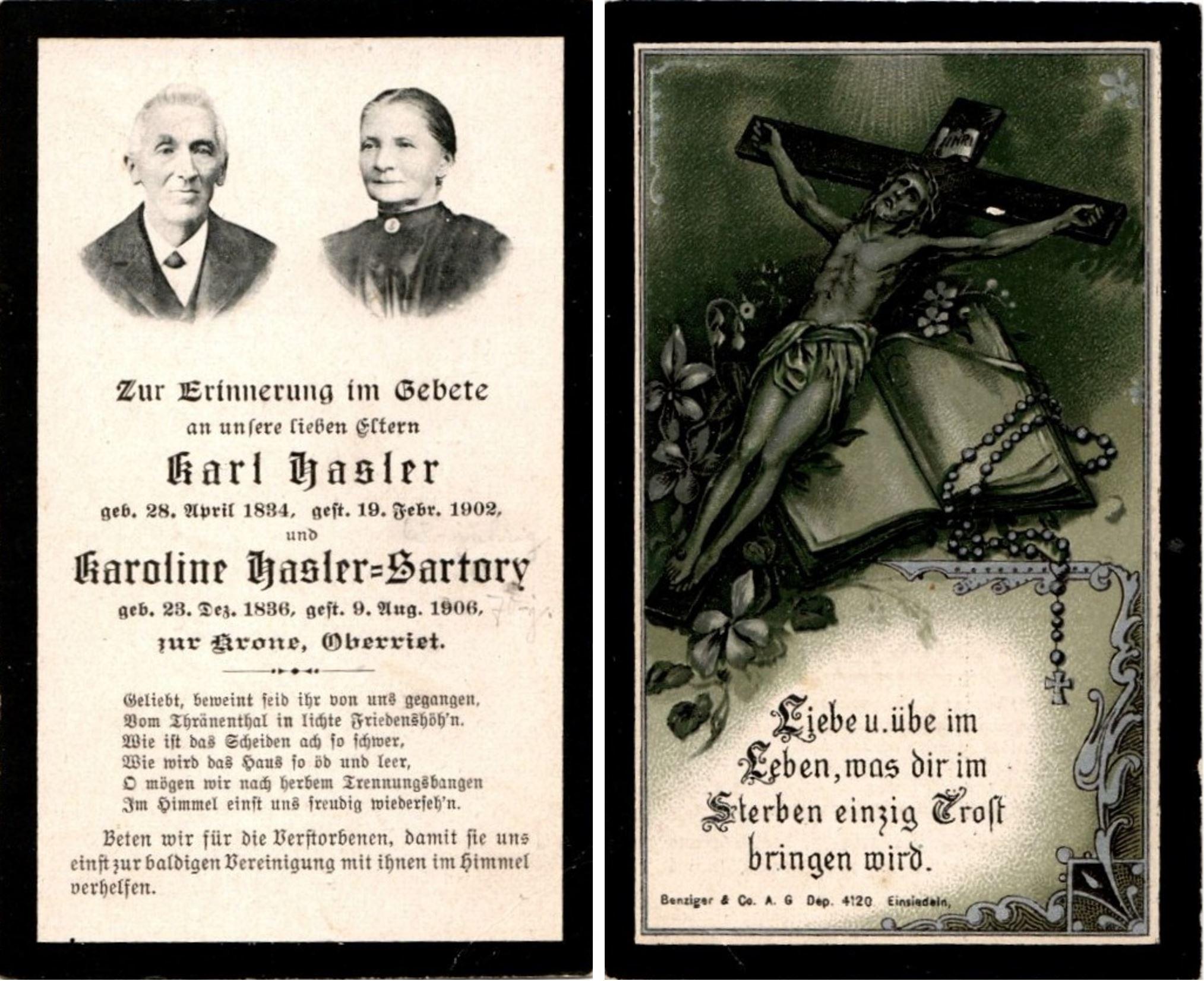 Karl Salesius Hasler (1834-1902)