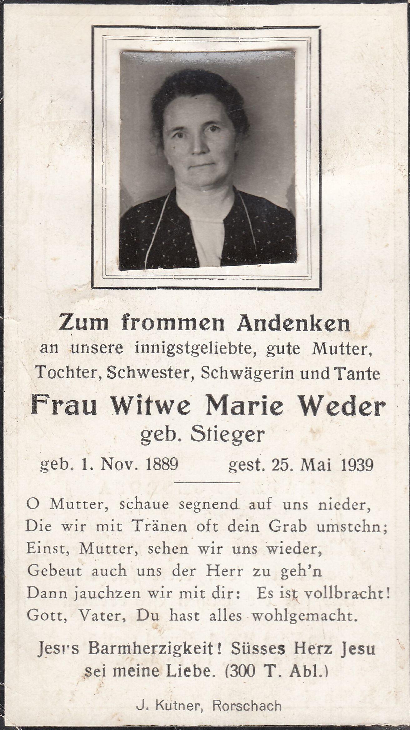 Marie Weder-Stieger (1889-1939)