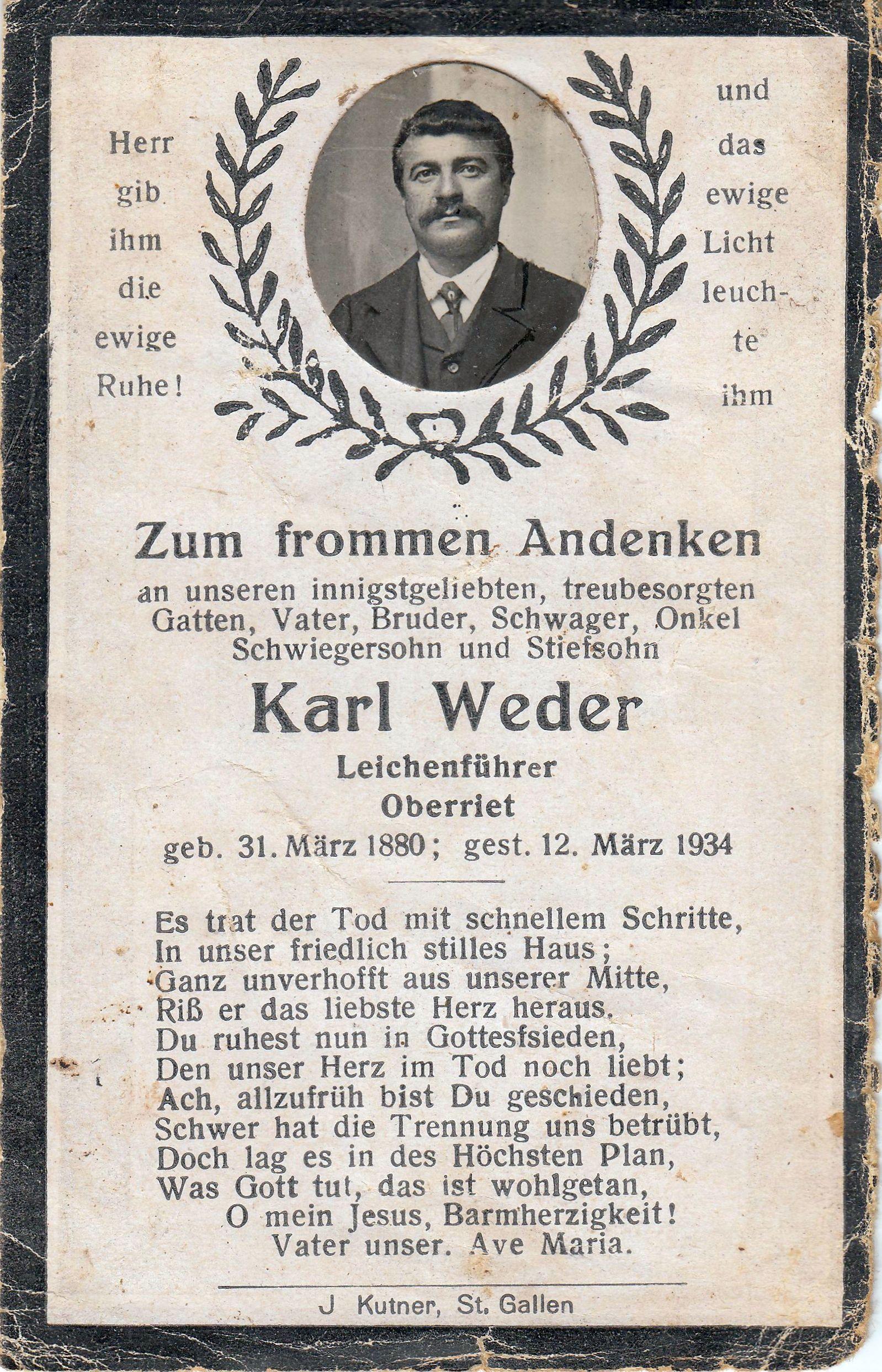 Karl Weder (1880-1934)