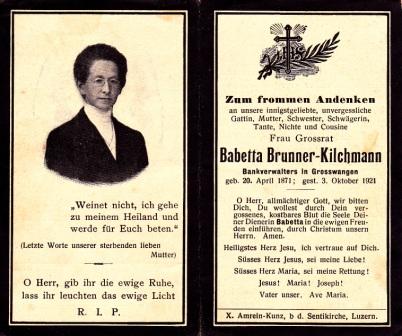 Babette Brunner-Kilchmann (1871-1921)