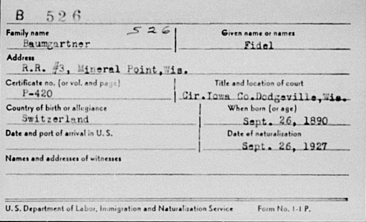 Einbürgerung - Fidel Baumgartner