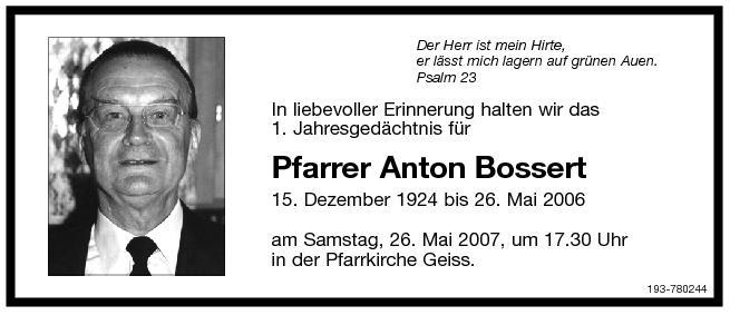 Anton Bossert (1924-2006)