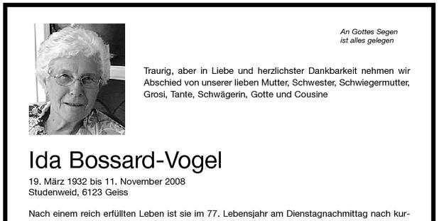 Ida Bossard-Vogel (1932-2008)