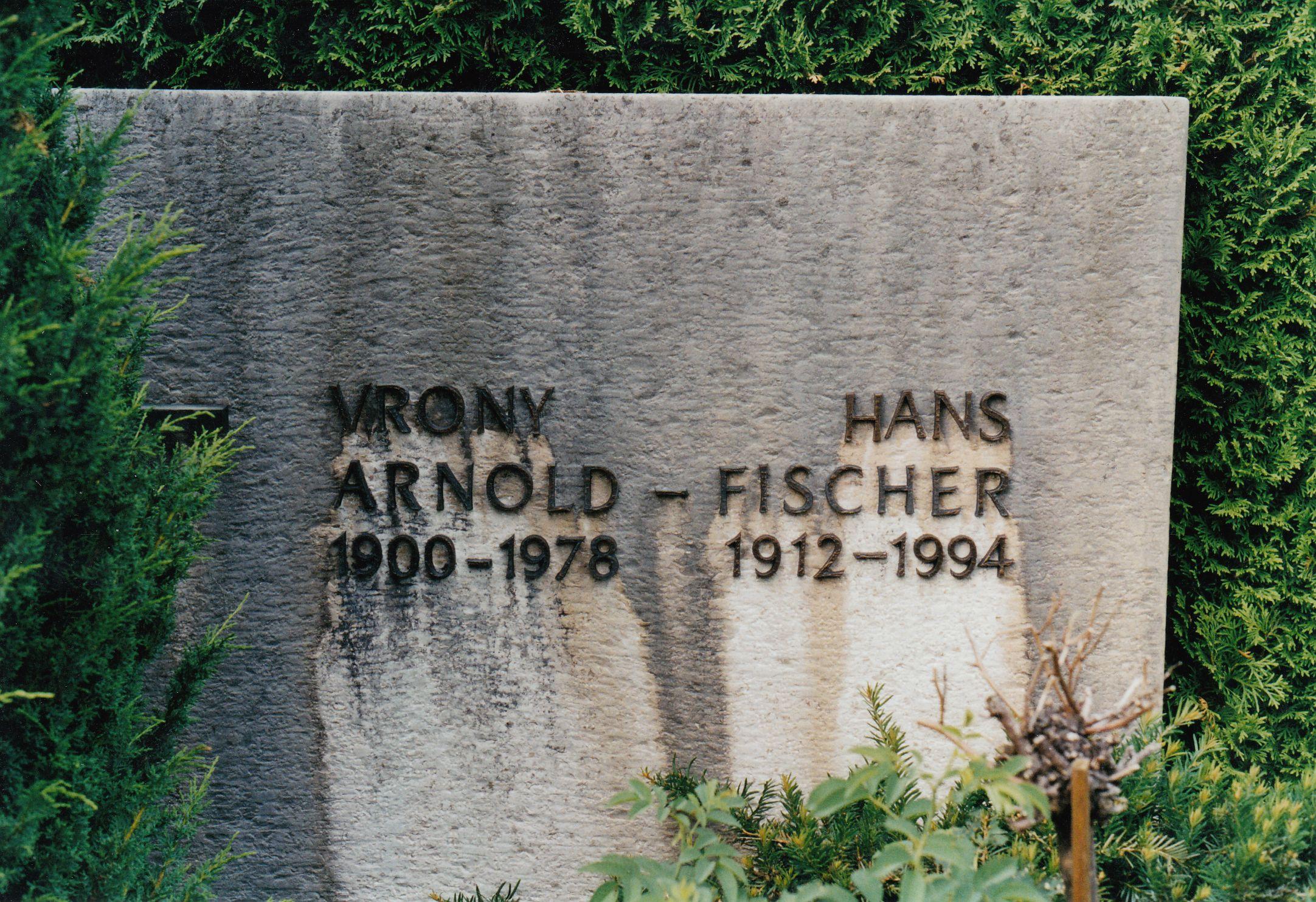 Grabstein Vrony und Hans Arnold-Fischer