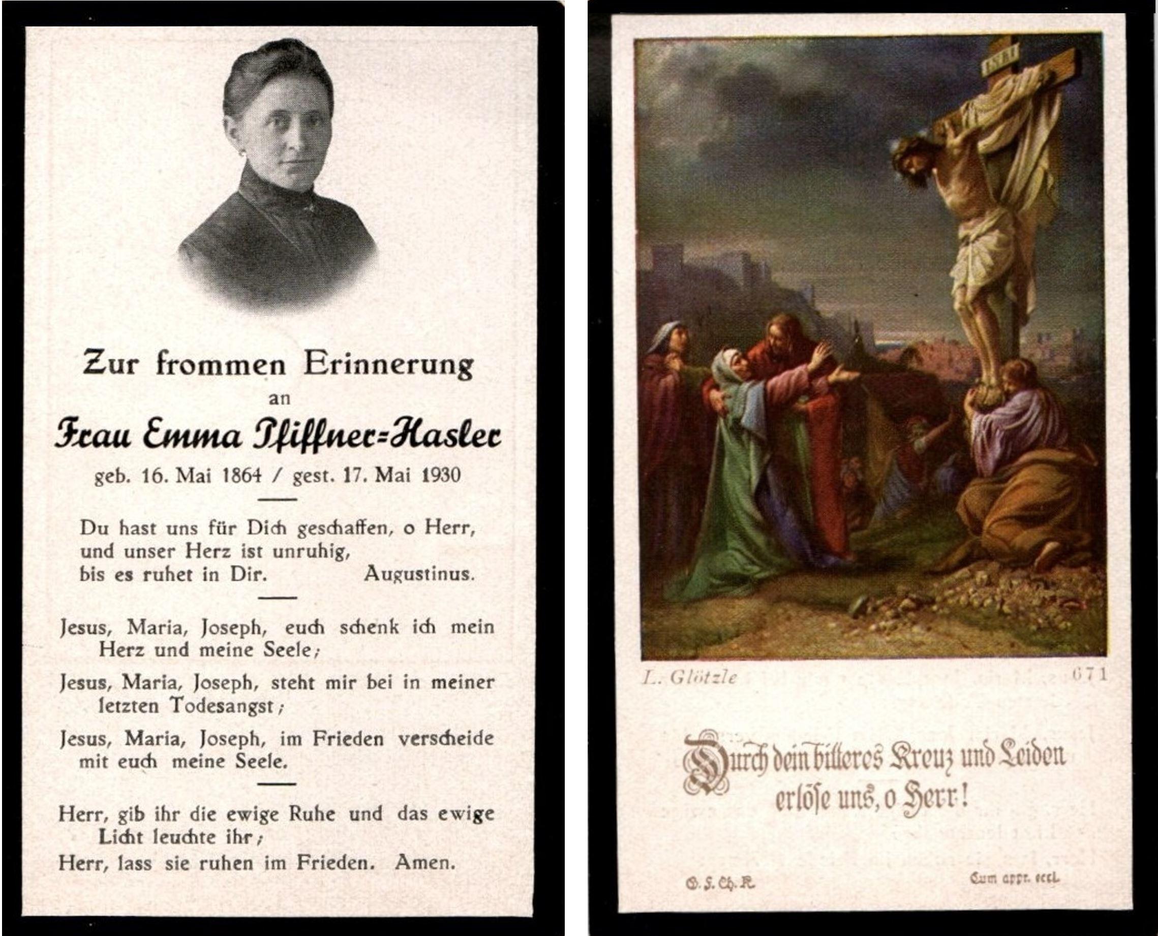 Emma Pfiffner-Hasler (1864-1930)
