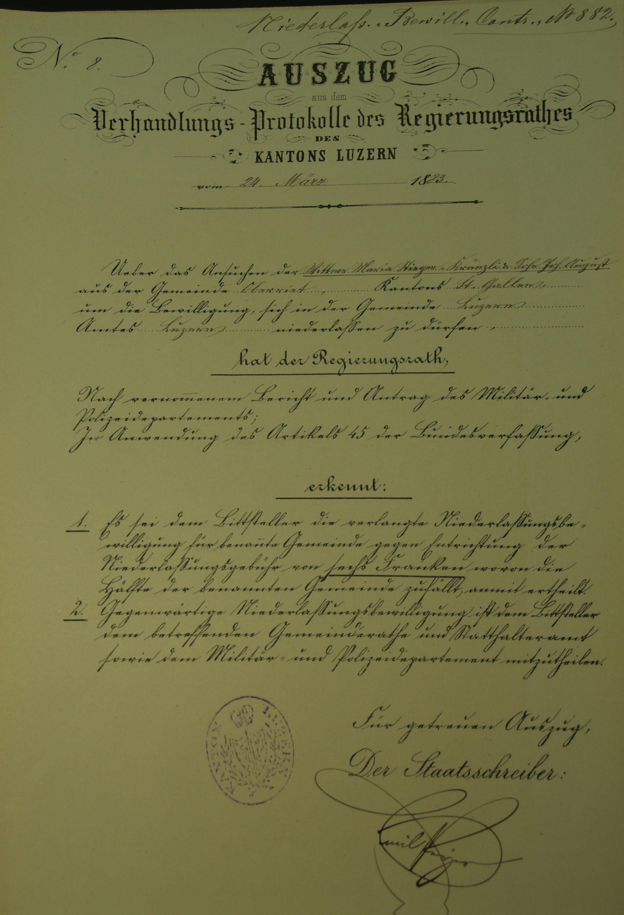Maria Stieger geb. Kränzli