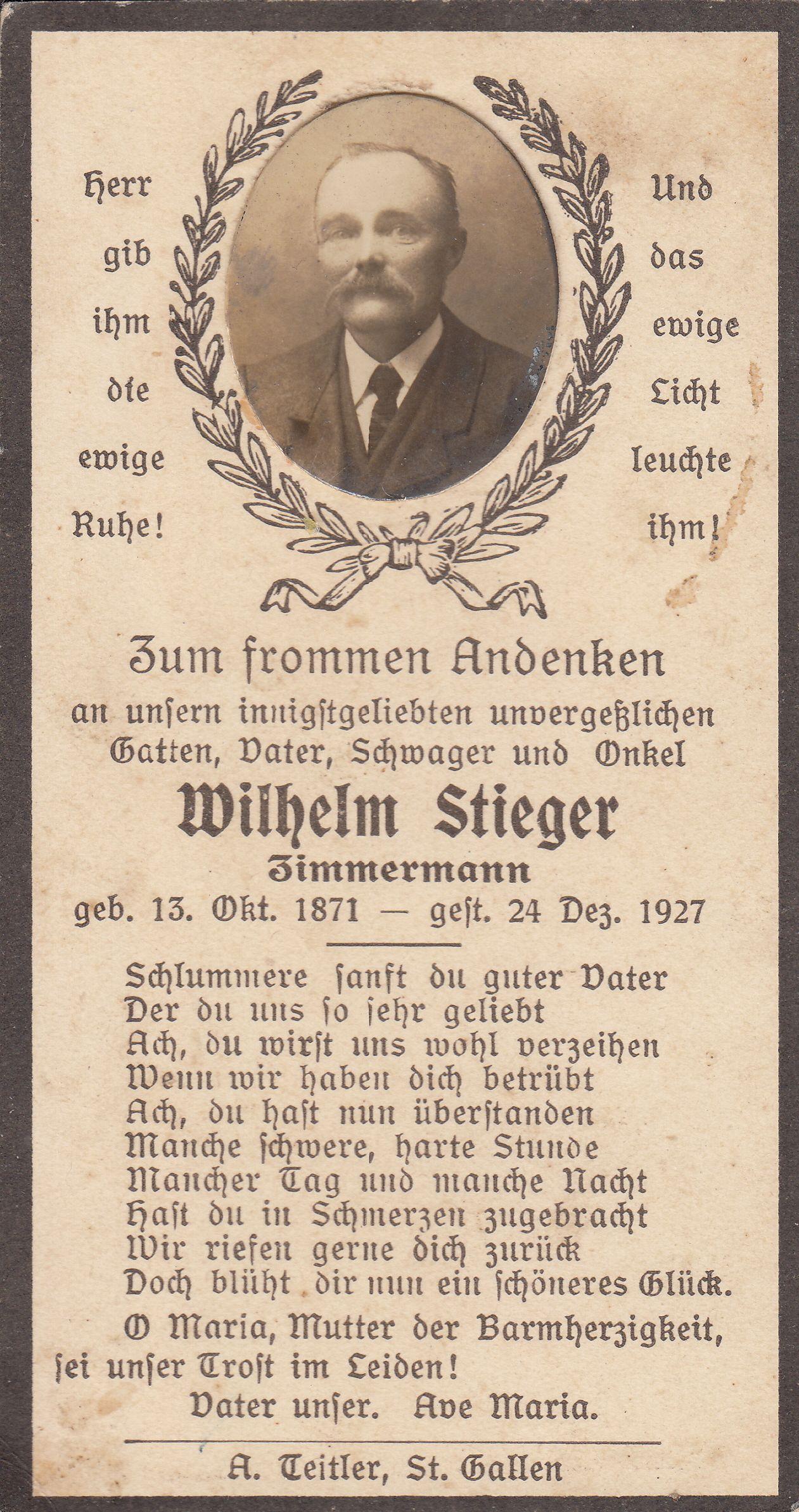 Wilhelm Stieger (1871-1927)