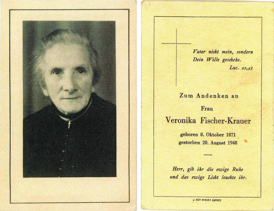 Veronika Fischer-Krauer 1871-1948