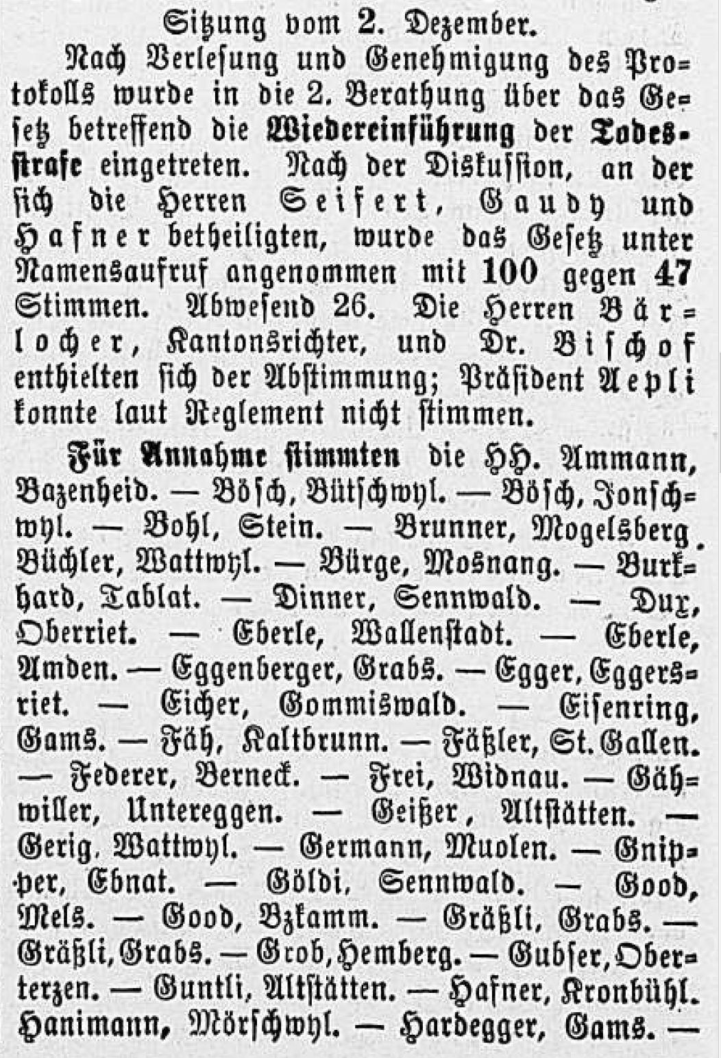 Grossratssitzung 1882