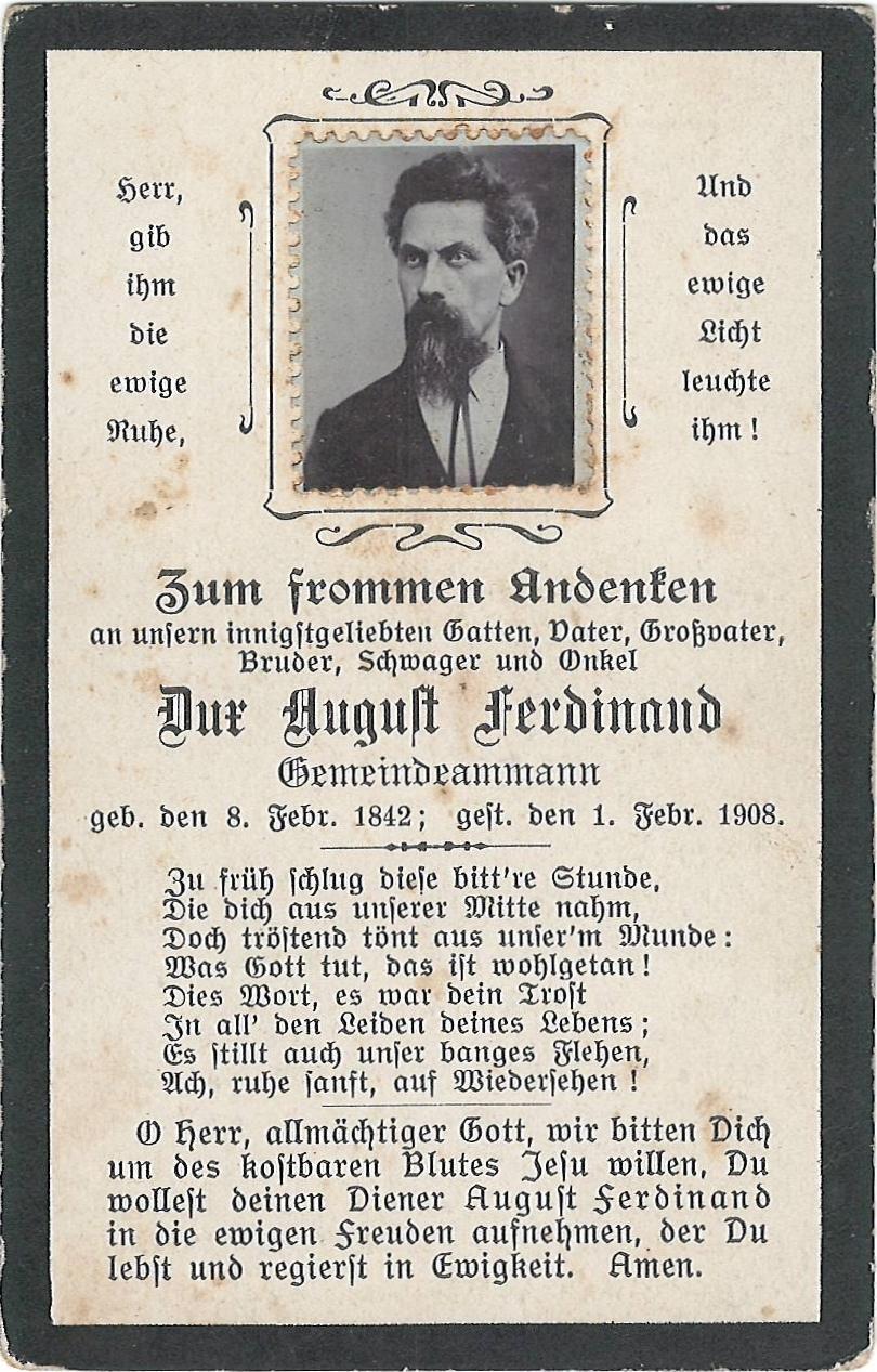August Ferdinand Dux (1842-1908)