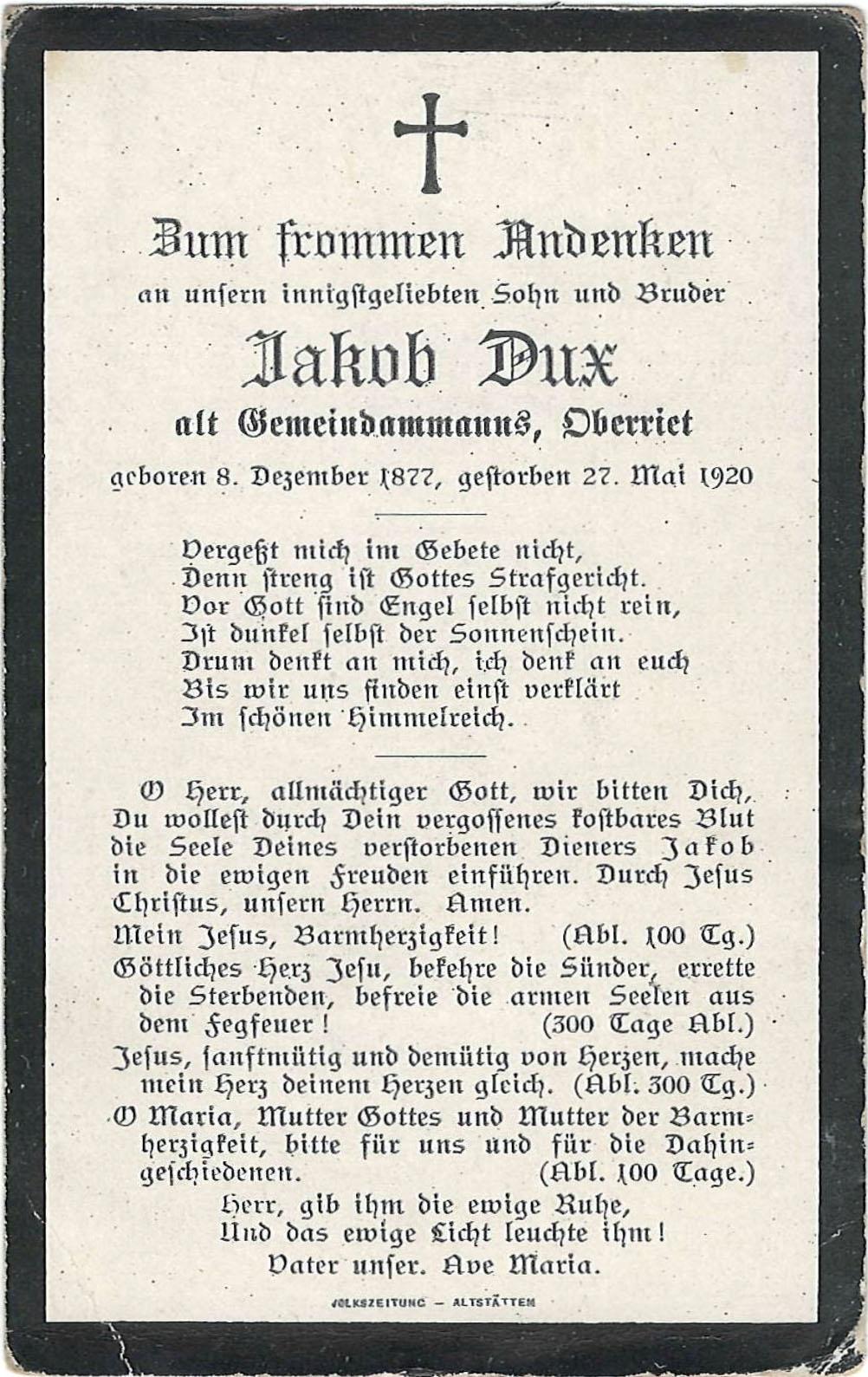 Jakob Dux (1877-1920)