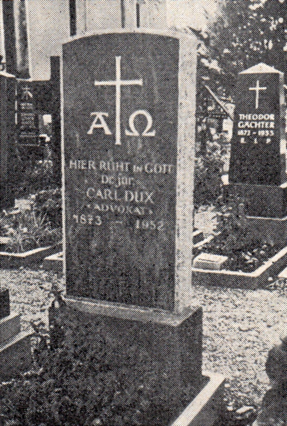 Grabstein Carl Dux (1873-1952)